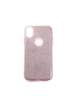 Bling Simmer TPU Gel Case For iPhone XR  6.1'  Rose Gold