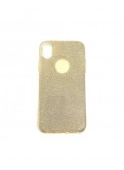 Bling Simmer TPU Gel Case For iPhone XR  6.1'  Gold