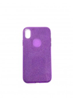 Bling Simmer TPU Gel Case For iPhone XR  6.1' Purple