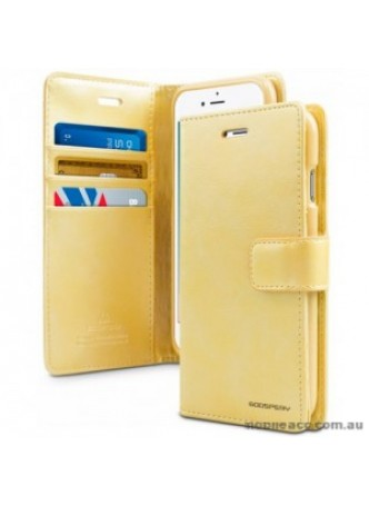 Mercury Goospery Blue Moon Diary Wallet Case For iPhone 13  6.1inch  Gold