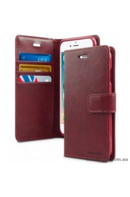 Mercury Goospery Blue Moon Diary Wallet Case For iPhone 12 6.1inch  Red Wine
