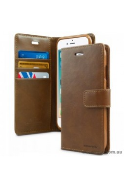 Mercury Goospery Blue Moon Diary Wallet Case For iPhone 12 6.7inch  Brown