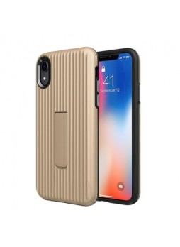 Luggage Case with Kickstand Shockproof Heavy Duty Case Cover For Iphone XS MAX 6.5'  Gold