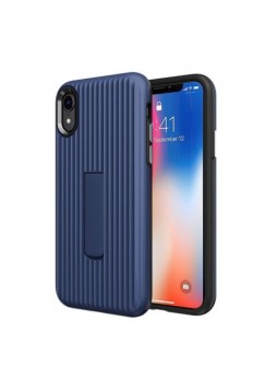 Luggage Case with Kickstand Shockproof Heavy Duty Case Cover For Iphone XS MAX 6.5'  Navy Blue
