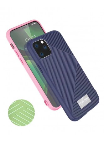 Genuine MOLAN CANO Jelline Bumper Back Case For iPhone11 6.1'  Navy Blue