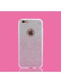 Bling Simmer TPU Gel Case For iPhone 6/6S Plus - Silver