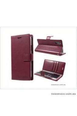Korean Mercury Bluemoon Diary Wallet Case ForSamsung S20  Plus 6.7 inch  Red Wine