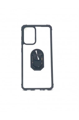 Anti Shockproof Heavy Duty With Stand With Magnet Case For Samsung A72 5G  Clear