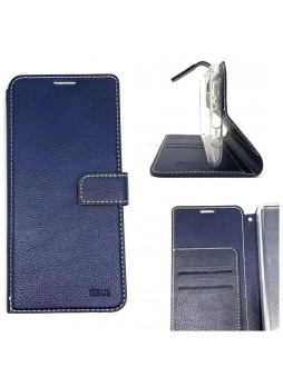 Molancano ISSUE Diary Wallet Case For Samsung A70  Navy Blue