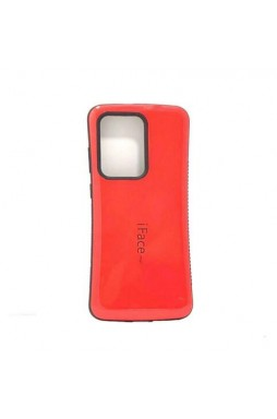 ifacMall Anti-Shock Case For Samsung S21 Ultra 6.8 inch  Red