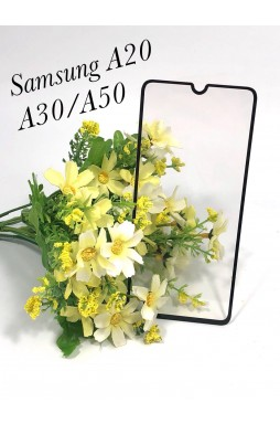 Tempered Glass For Samsung  Galaxy  A20 - A30 - A50 Black
