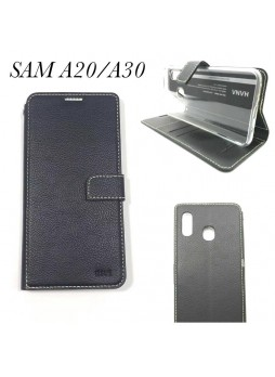 Hana  Wallet Case For Samsung  Galaxy  A20 - A30 Black