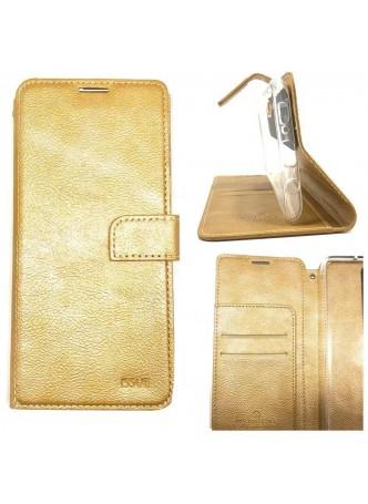 Hana  Wallet Case For Samsung  Galaxy  A20 - A30  Gold