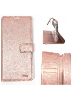 Hana  Wallet Case For Samsung  Galaxy  A20  A30 Rose Gold