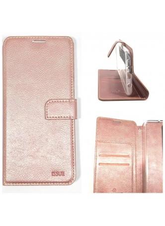 Hana  Wallet Case For Samsung  Galaxy  A20  A30 Rose Gold