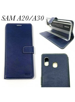 Hana  Wallet Case For Samsung  Galaxy  A20 - A30  Navy  Blue