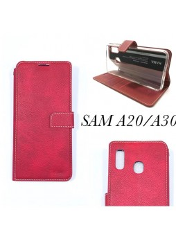 Hana  Wallet Case For Samsung  Galaxy  A20 - A30 Red
