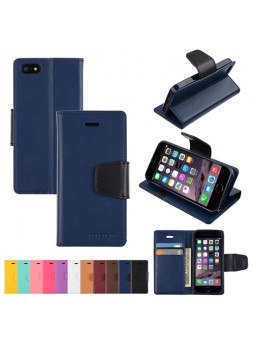 iPhone 6 Plus Korean Mercury Sonata Diary Wallet Case - Navy
