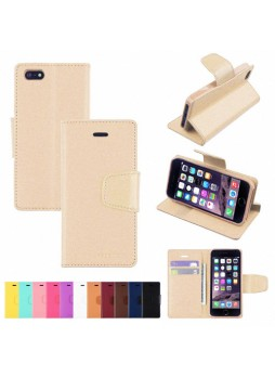 iPhone 6 Plus Korean Mercury Sonata Diary Wallet Case - Gold