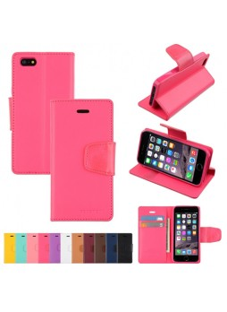 iPhone 6 Plus Korean Mercury Sonata Diary Wallet Case - Hot Pink