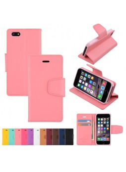 iPhone 6 Plus Korean Mercury Sonata Diary Wallet Case - Baby Pink