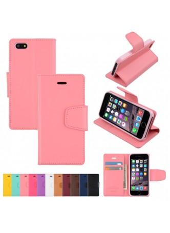 iPhone 6 Plus Korean Mercury Sonata Diary Wallet Case - Baby Pink