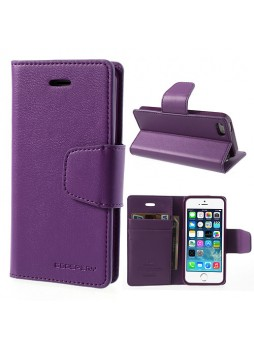 iPhone 6 Plus Korean Mercury Sonata Diary Wallet Case - Purple